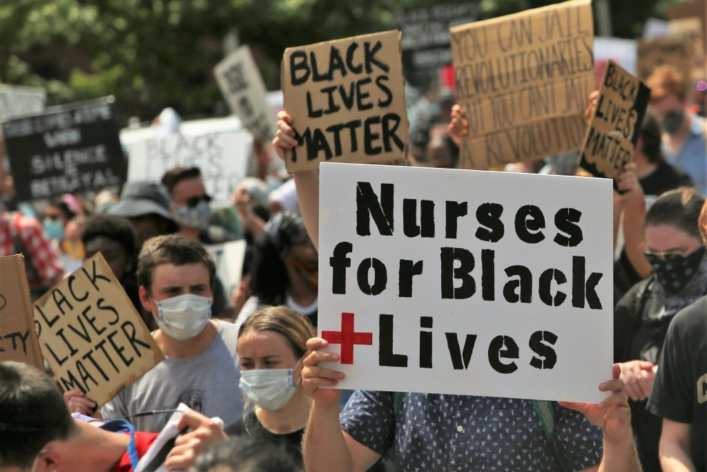 """Nurses for #BLM in East Baltimore"" by Robyn Stevens Brody"