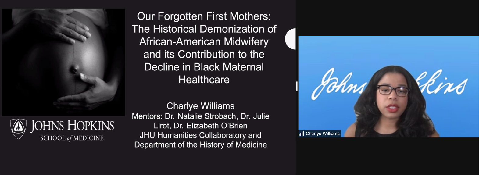 Charlye Williams Presentation Screenshot - Our Forgotten First Mothers