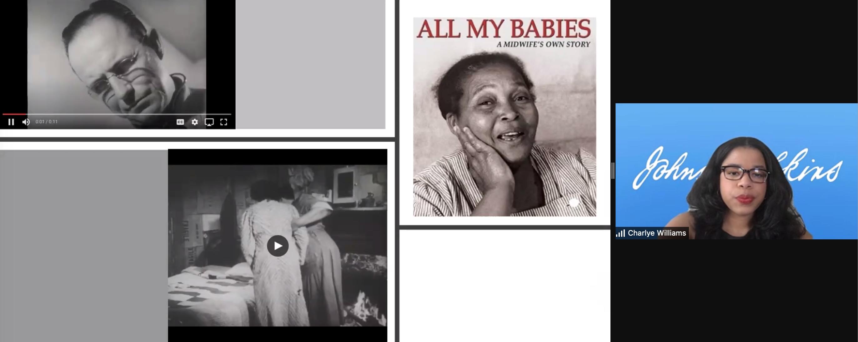 Charlye Wiliams Presentation Screenshot - All My Babies