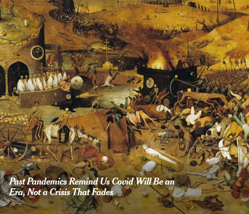 """""""The Triumph of Death,"""" an oil painting by the Flemish artist Pieter Bruegel the Elder, circa 1562.Credit...FineArt/Alamy"""
